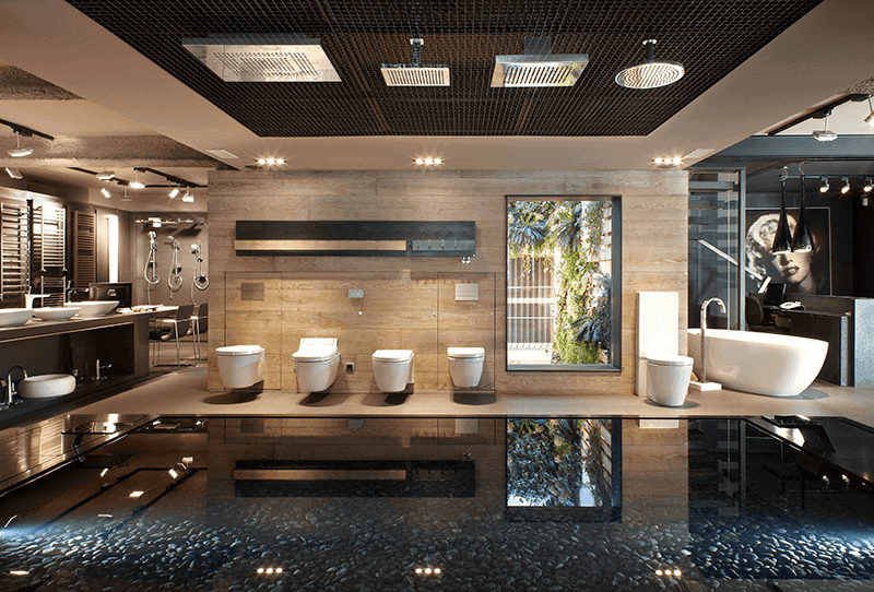 Sanitaries Showroom Azul Acocsa