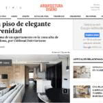 El portal de ARQUITECTURA Y DISEÑO publica «UN PISO DE ELEGANTE SERENIDAD»