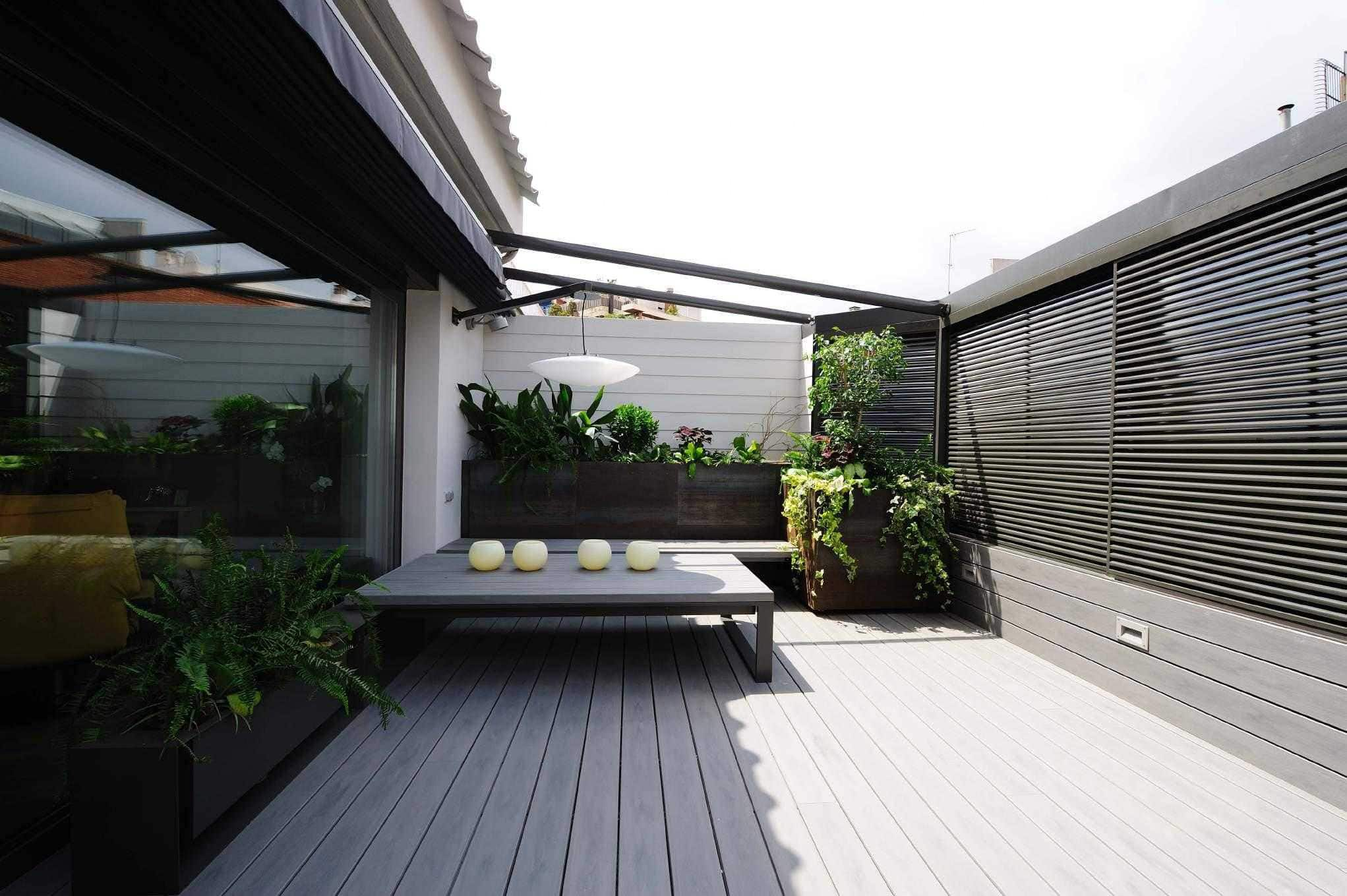 exterior design project large terrace located in sant gervasi barcelona