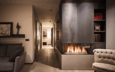 Winter at home: an interior that interacts with the outside
