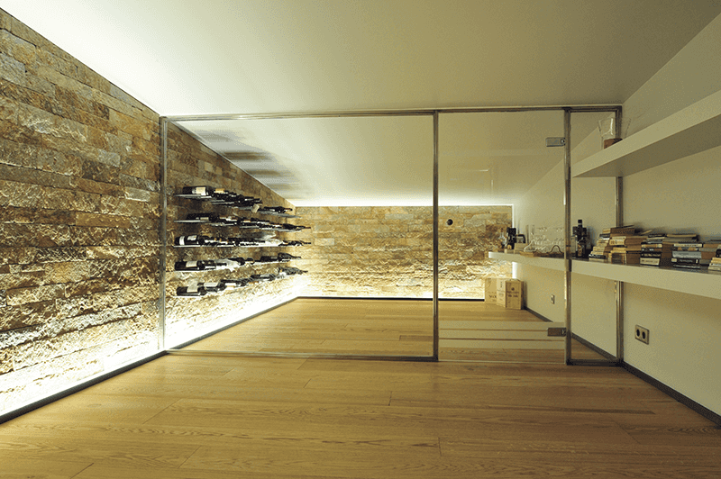 modern stone winery interior design Andorra