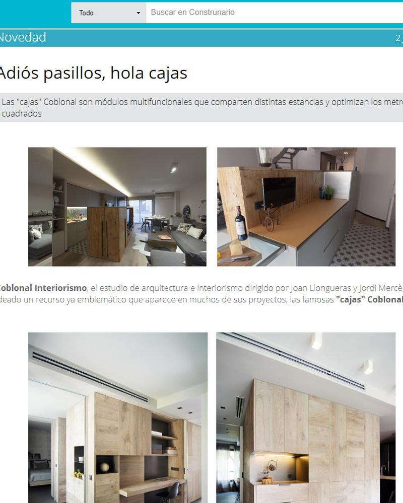 "ARTCLE ABOUT COBLONAL ""BOXES"": ¡BYE CORRIDORS AND PARTITIONS!"