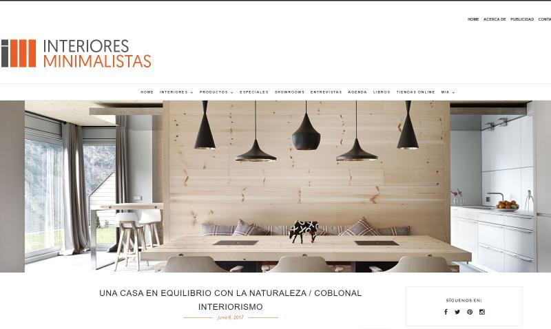 PUBLICATION OF THE INTERIOR DESIGN PROJECT AND THE INTEGRAL REFURBISHMENT OF AN APARTMENT IN ANDORRA