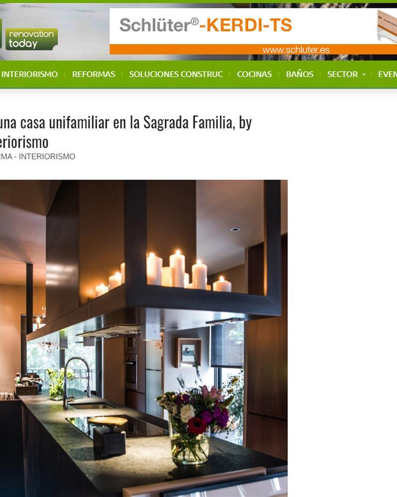 PUBLICATION OF THE INTERIOR DESIGN & DECORATION PROJECT HOUSING SAGRADA FAMILIA
