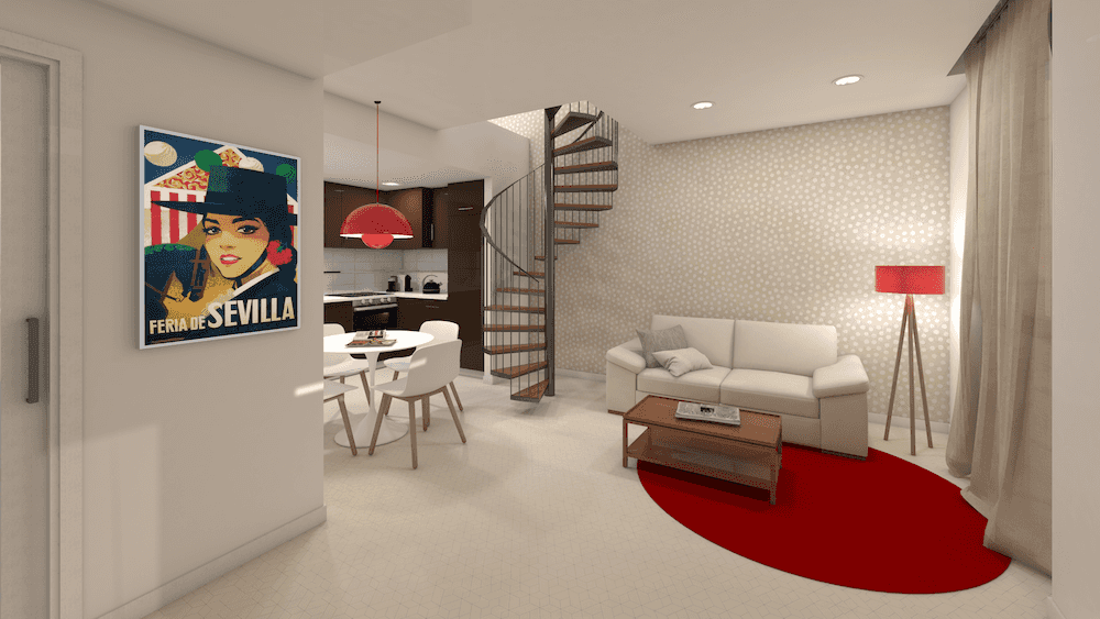 Interior design and decoration project tourist apartments seville