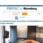 El portal web Merca2 con Bloomberg publica un artículo sobre la chimenea de gas de Coblonal Interiorismo