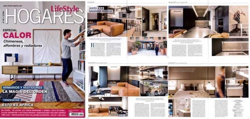 Hogares Lifestyle publishes a  report about the interior design of a duplex done by Coblonal