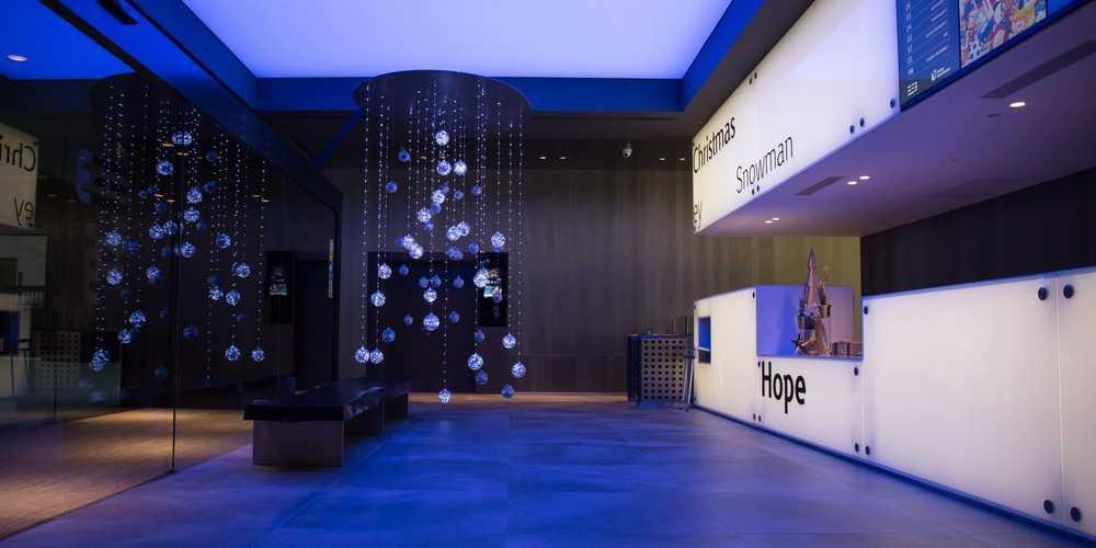 Christmas decoration in Emotional Seasons Building Diagonal Mar