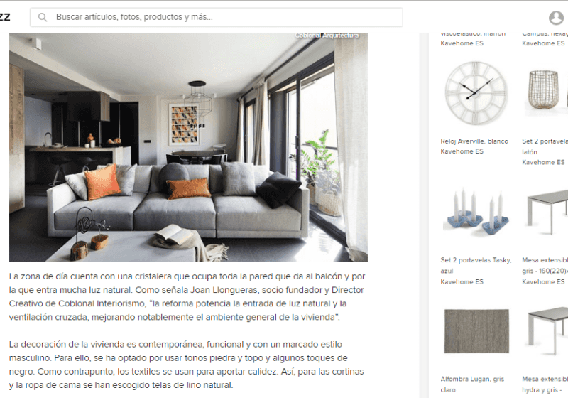 Our interior design project in Sarria is published on Houzz