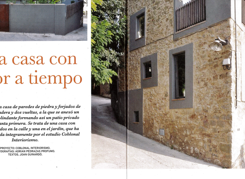 Our rustic house of the Baix Empordà appears in the magazine Vivir en el Campo
