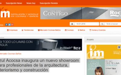 REPORTAJE DEL DISEÑO INTERIOR DEL SHOWROOM DE COCINAS AZUL ACOCSA