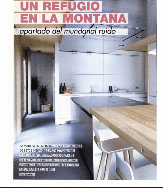 One of our interior design projects in Andorra published in Cocinas y Baños