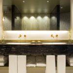 Bathroom of the Presidential Suite at the Fairmont Rey Juan Carlos I hotel in Barcelona