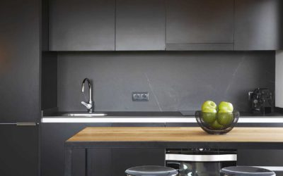 Our work is highlighted in Houzz: Black Kitchens