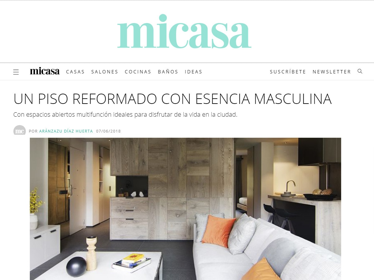 Appearance on the web portal of Mi Casa magazine