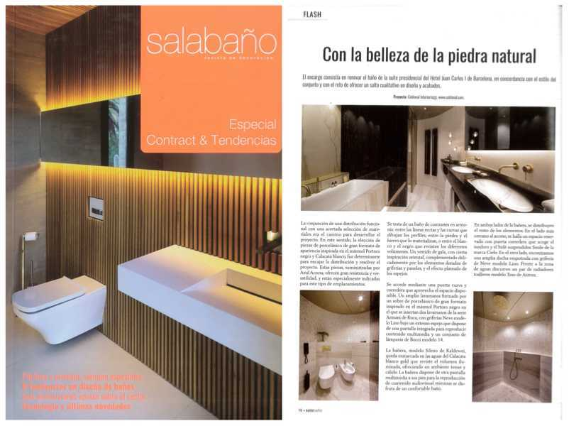 Our work for Fairmont appears in the magazine Sala Baño