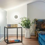 What role do the plants play in interior design?