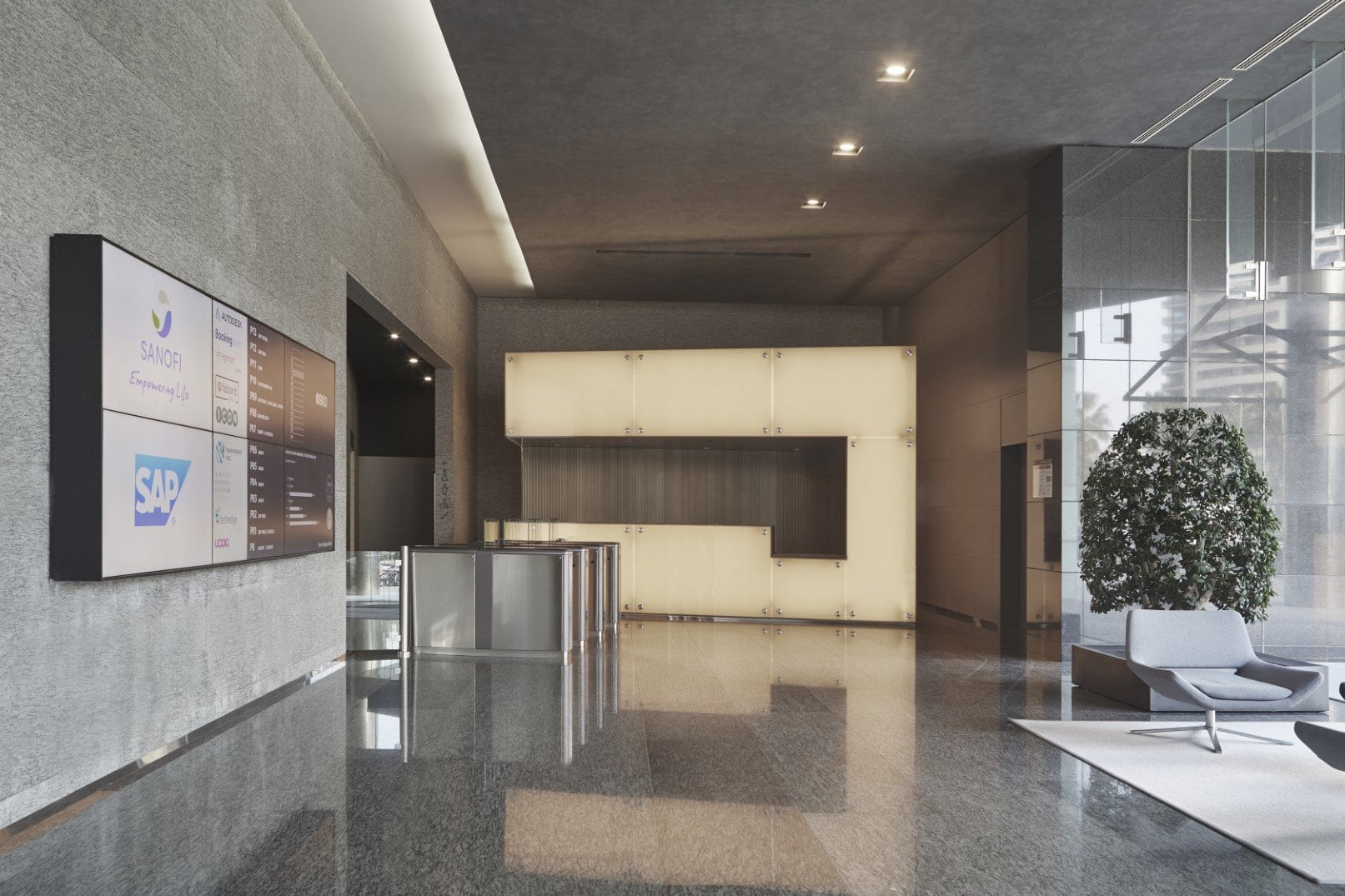 Common areas of the TDM office building