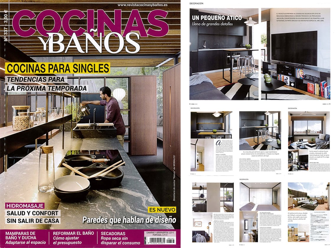 New appearance in Cocinas y Baños magazine with a small attic