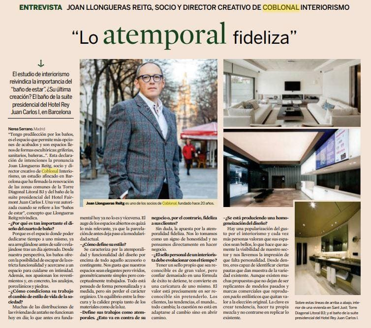 Interview with Joan Llongueras at the Diario Expansión