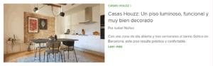 El nostre treball destacat en Houzz: Apartament singular al barri gòtic de Barcelona