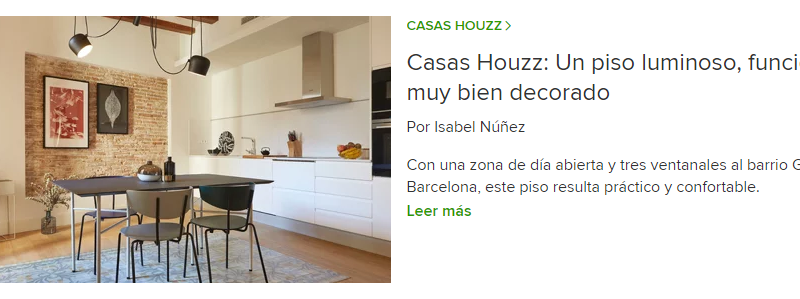 Our work is featured in Houzz: Unique apartment in the Gothic Quarter of Barcelona