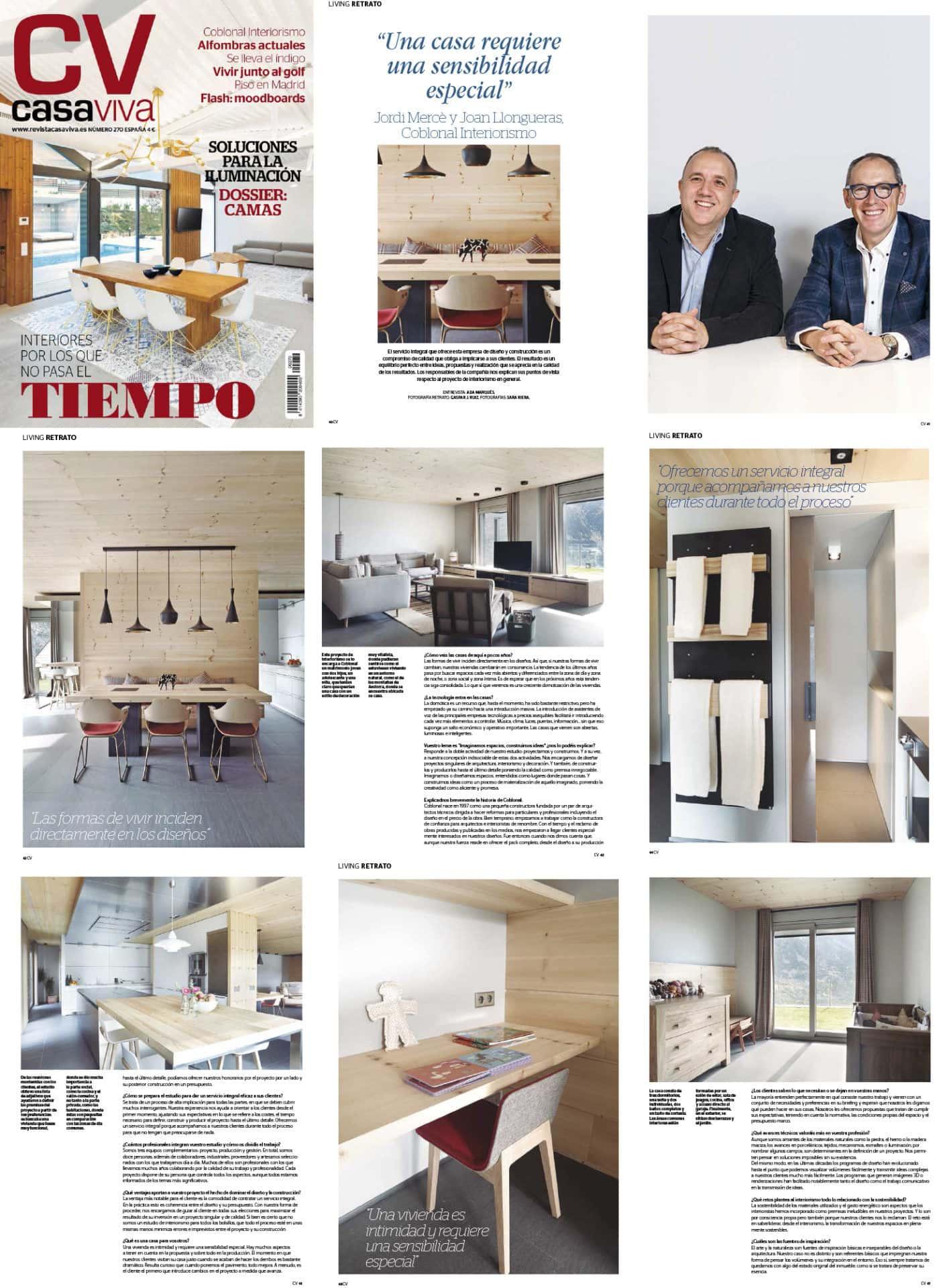 Entrevista a la revista Casa Viva