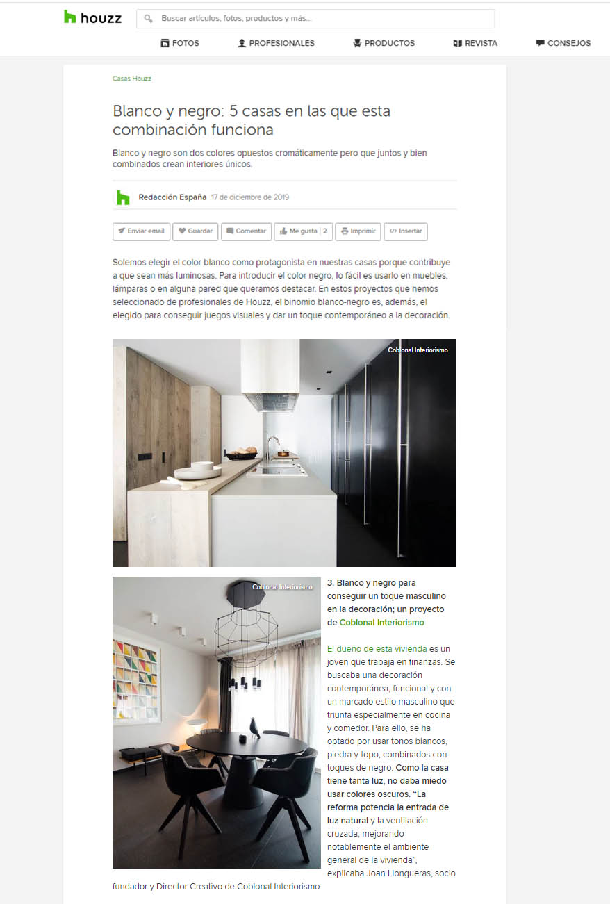 Houzz: Houses in black & white