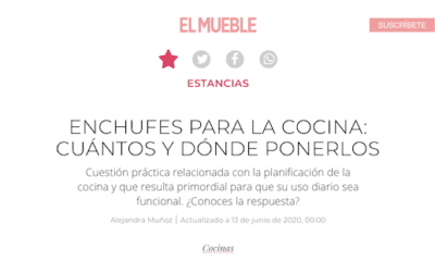 Kitchen Plugs: Joan Llongueras answers for El Mueble