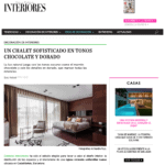 Interiores magazine publishes our work in a luxurious chalet