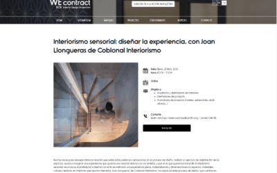 Webinar on Sensory Interior Design at WEcontract