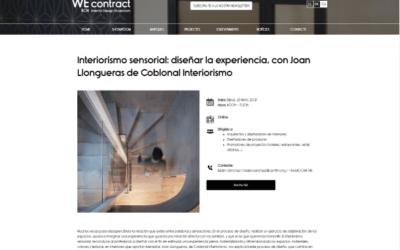 Webinar sobre Interiorisme Sensorial a WEcontract